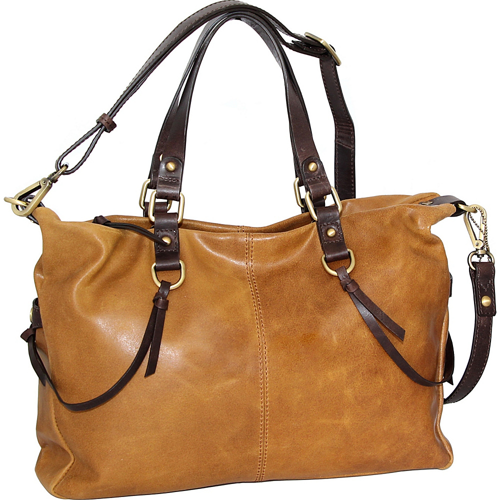 Nino Bossi Cailyn Satchel Saddle - Nino Bossi Leather Handbags - Handbags, Leather Handbags
