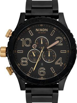 Nixon 51-30 Chrono Watch Matte Black/Gold - Nixon Watches