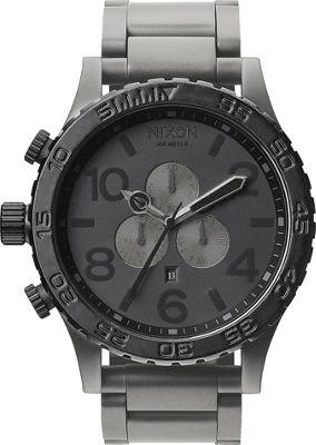 Nixon 51-30 Chrono Watch Matte Black/Matte Gunmetal - Nix...