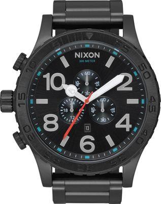 Nixon 51-30 Chrono Watch All Black/Silver/Lum - Nixon Wat...