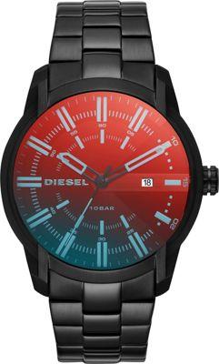 Diesel Watches Men's Armbar Three-Hand Black Stainless St...