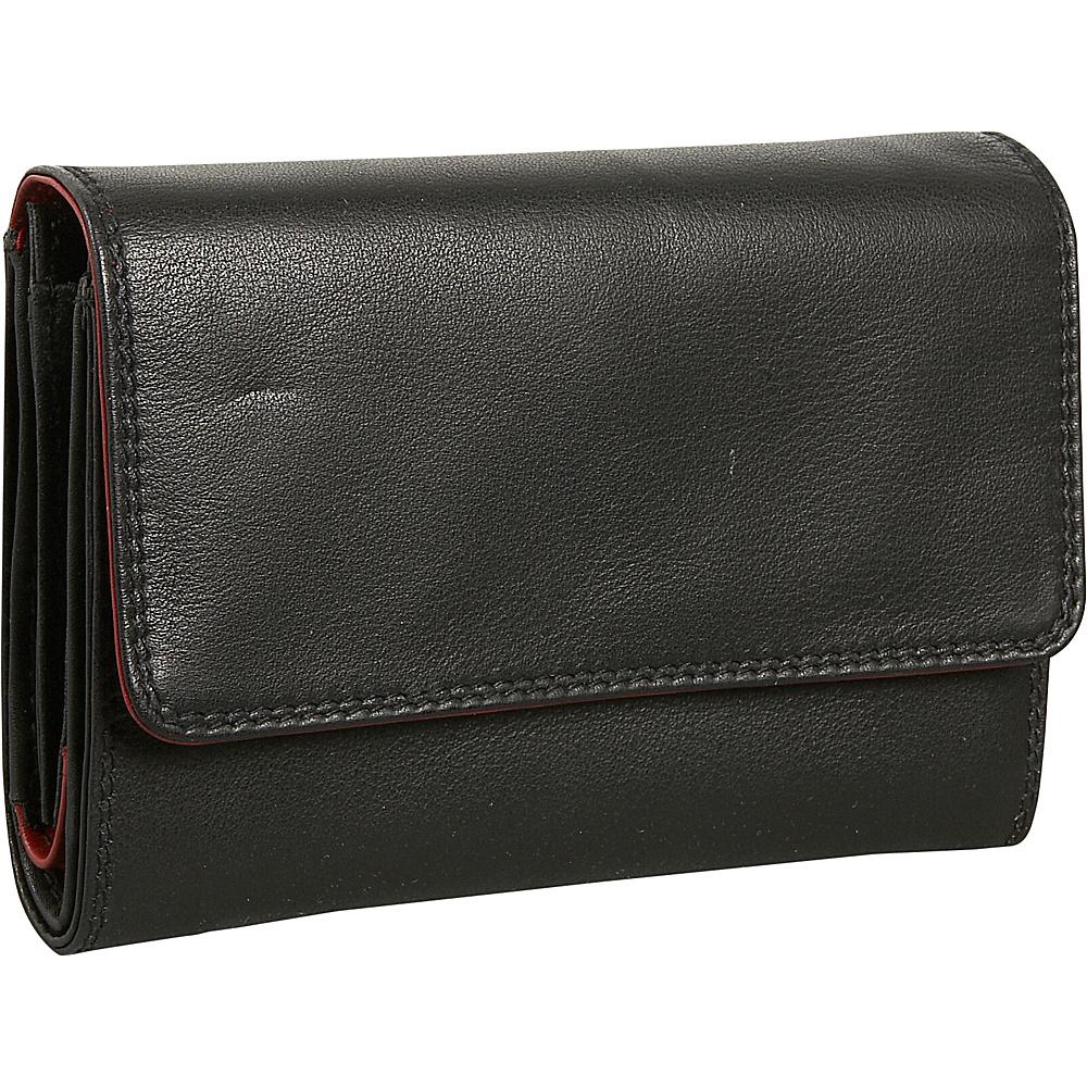 Derek Alexander Ladies Medium Cardex - Black/Red - Women's SLG, Women's Wallets