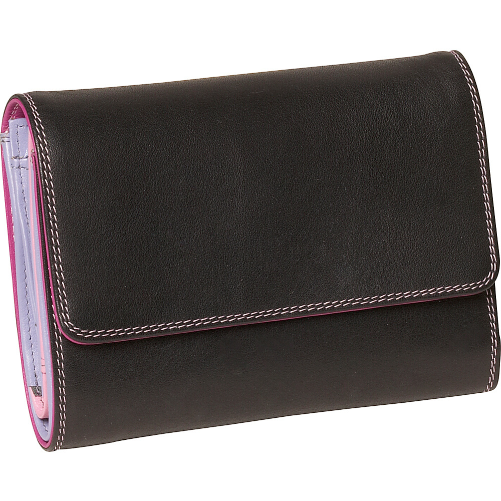 Derek Alexander Ladies Medium Wallet - Blk/Pastel - Women's SLG, Women's Wallets