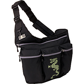 Black Diaper Bag with Dragon Black wth Dragon