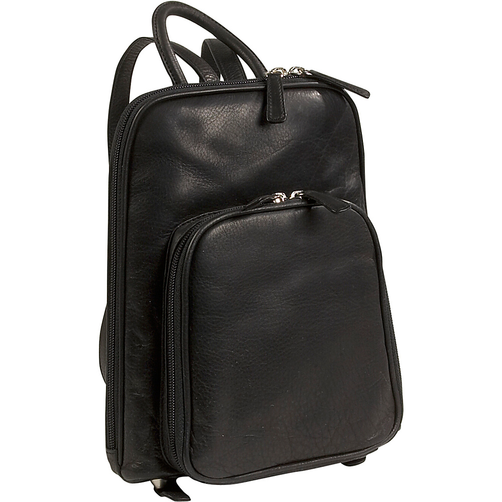 Osgoode Marley Cashmere Small Organizer Backpack Black Osgoode Marley Leather Handbags