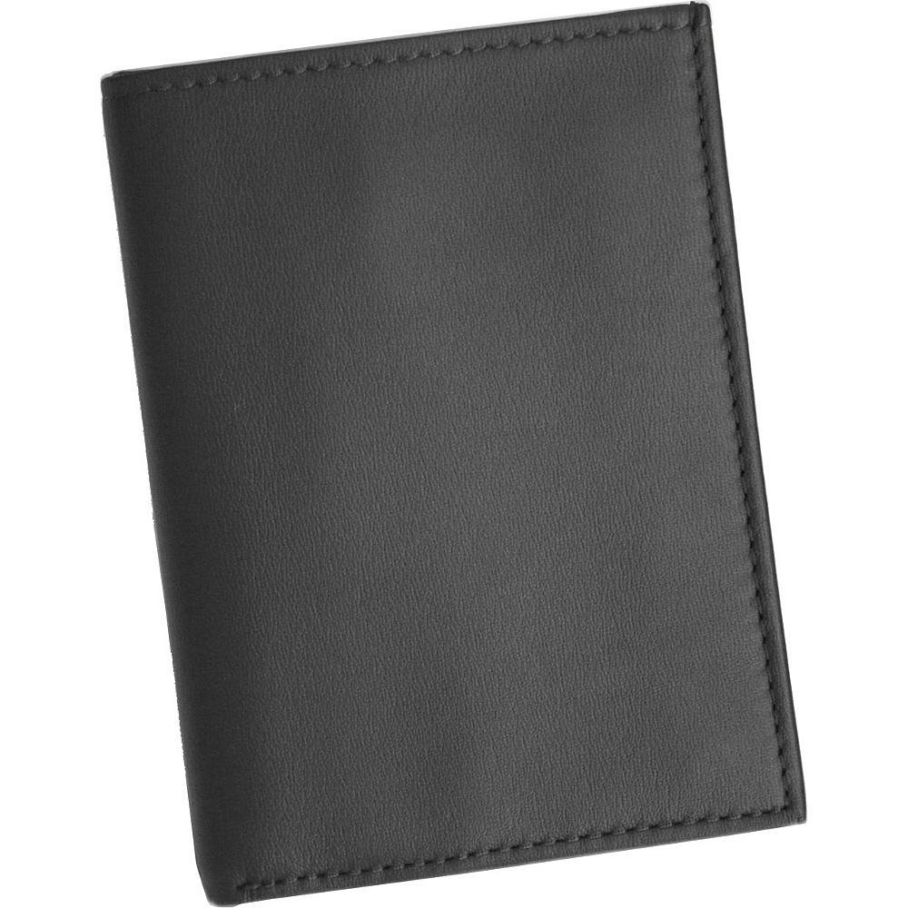 Royce Leather Mens  Flip Credit Card Wallet - Black - Work Bags & Briefcases, Men's Wallets