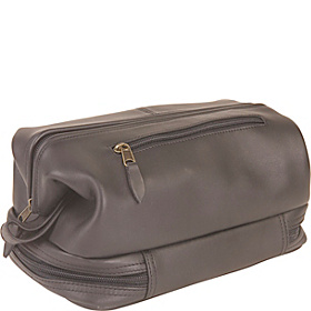Toiletry Bag w/Zippered Bottom Compartment Black
