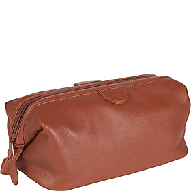 Toiletry Bag - Top Grain Cowhide Leather Tan