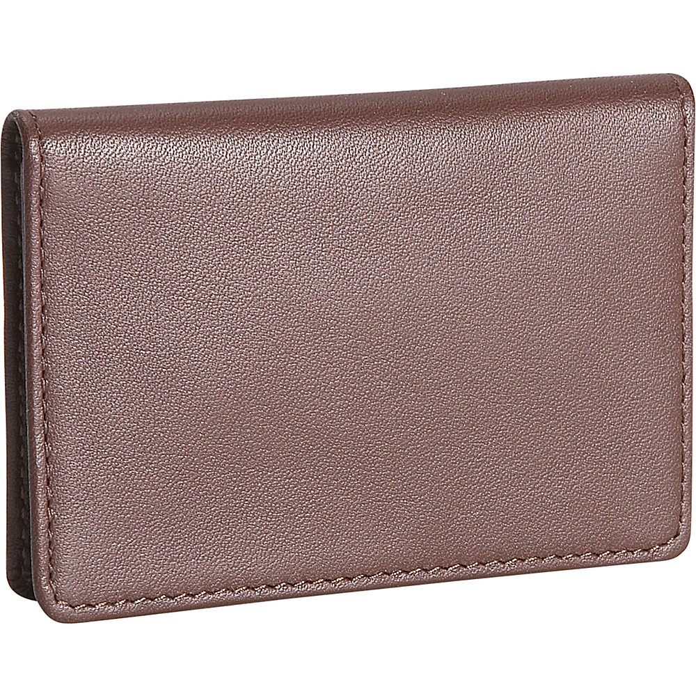 Royce Leather Mens Business Card Case - Coco - Work Bags & Briefcases, Business Accessories