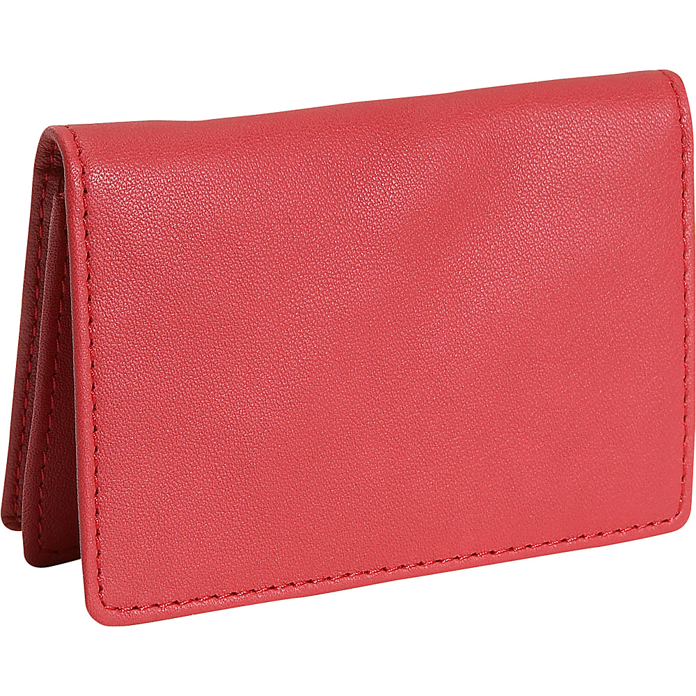 Royce Leather Mens Business Card Case - Red - Work Bags & Briefcases, Business Accessories