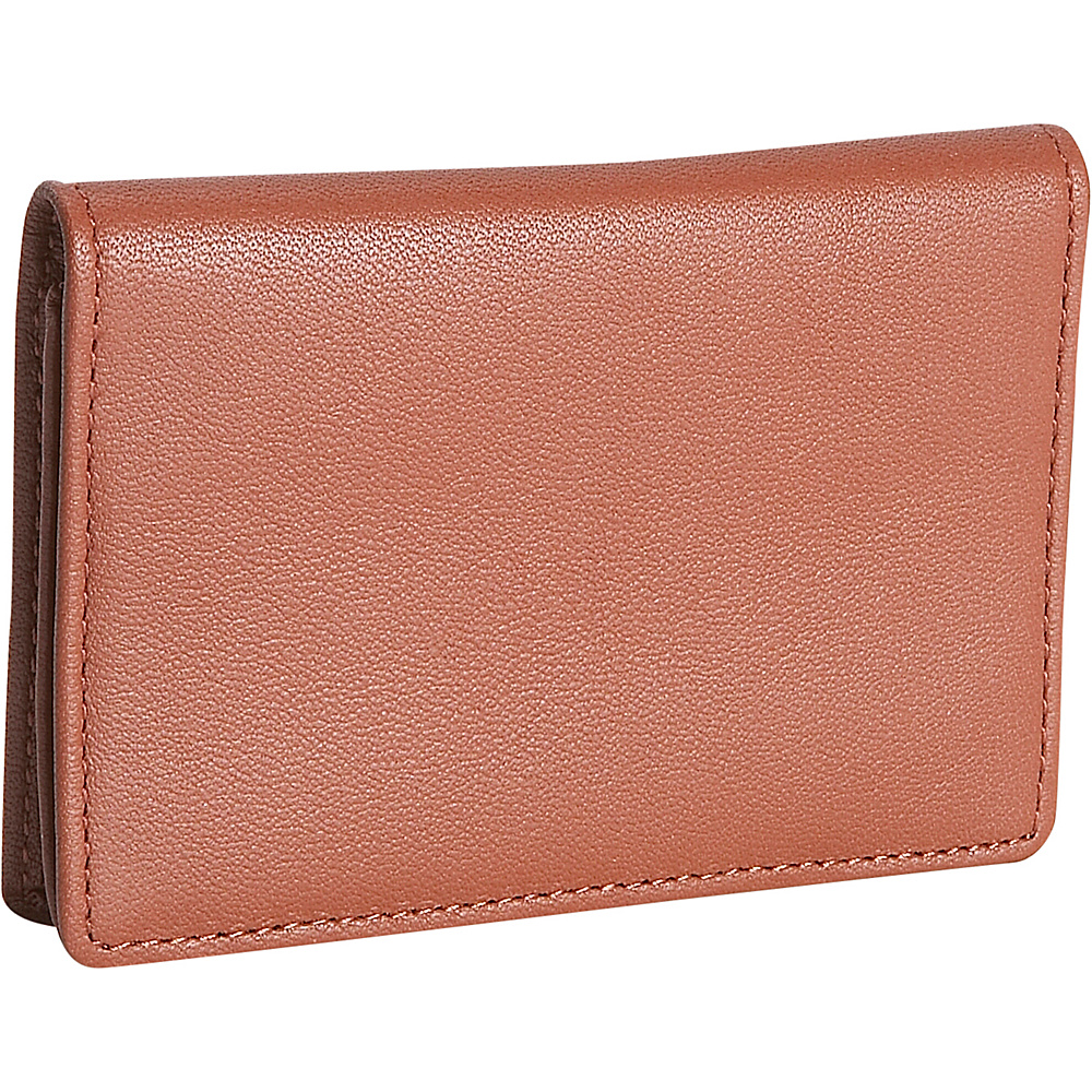 Royce Leather Mens Business Card Case - Tan - Work Bags & Briefcases, Business Accessories