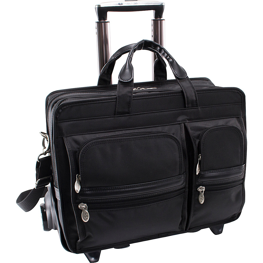 McKlein USA Clinton Nylon Wheeled 17 Laptop Case - Work Bags & Briefcases, Wheeled Business Cases