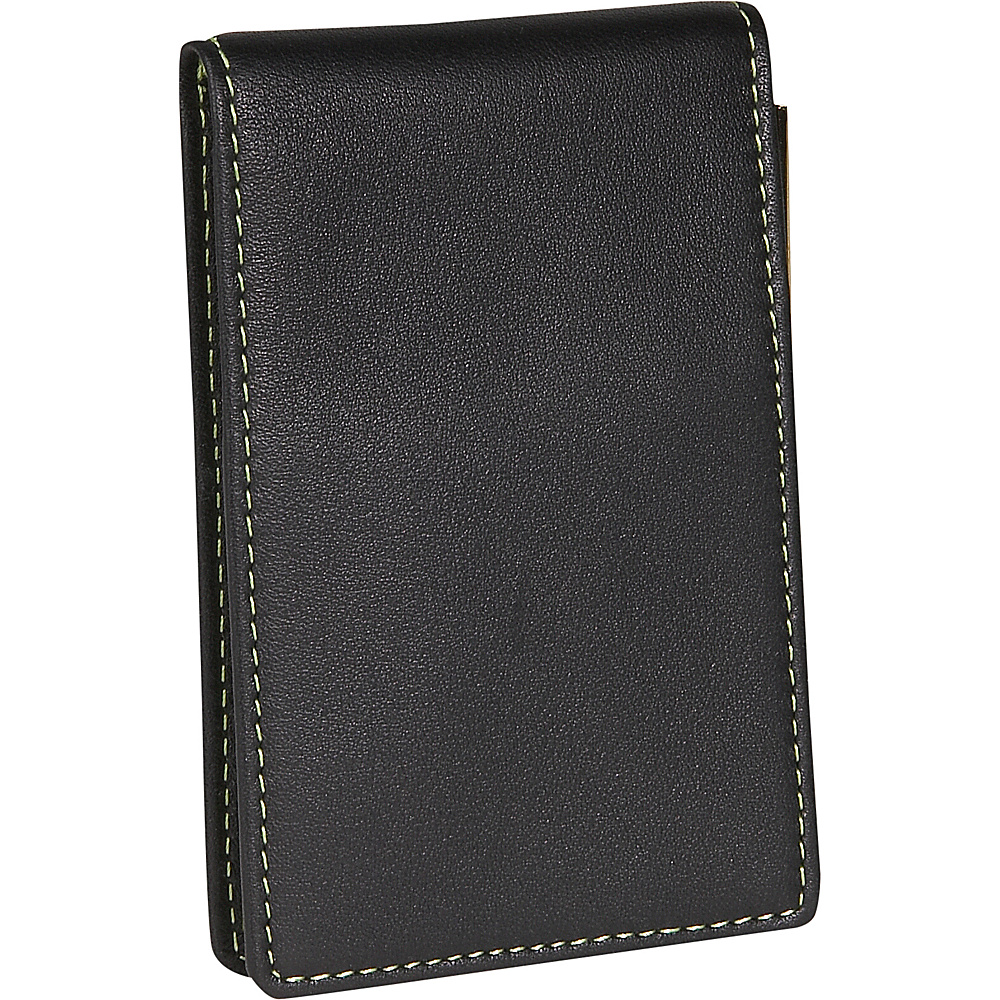 Royce Leather Deluxe Flip Style Note Jotter Black - Royce Leather Business Accessories - Work Bags & Briefcases, Business Accessories