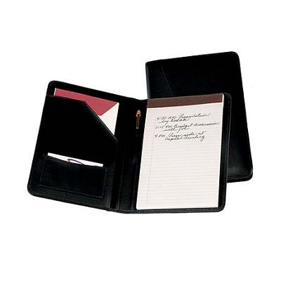 Royce Leather Jr. Writing Padfolio - Black