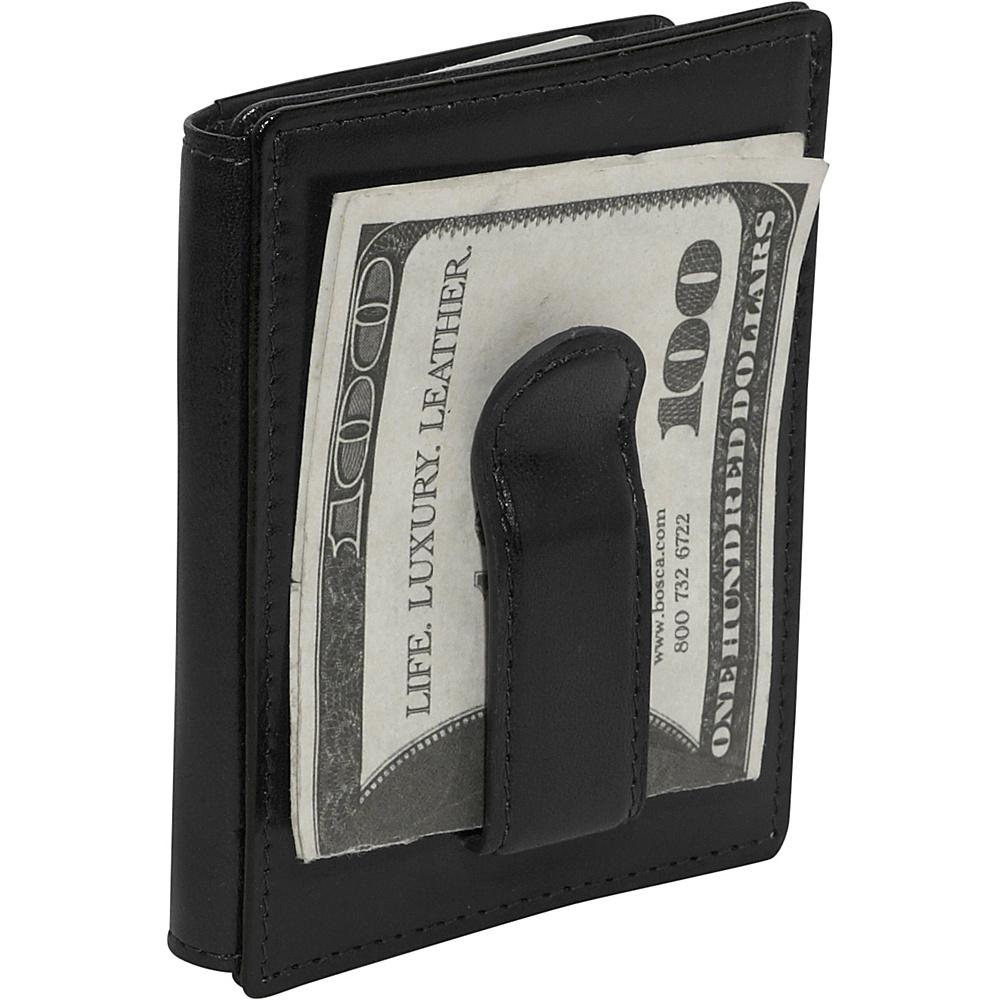 Bosca Old Leather Front Pocket ID Wallet - Black - Work Bags & Briefcases, Men's Wallets