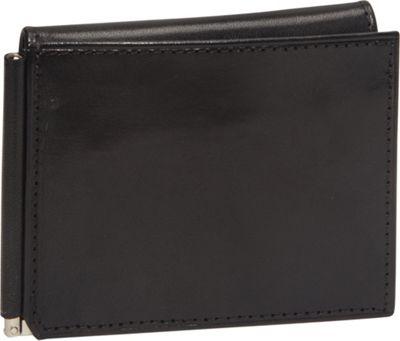 Bosca Old Leather Money Clip w/Outside Pocket Black - Bosca Men's Wallets