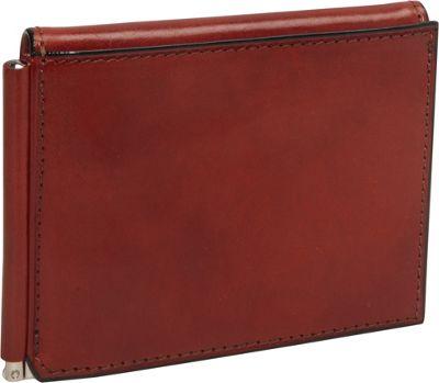 Bosca Old Leather Money Clip w/Outside Pocket Cognac - Bosca Men's Wallets