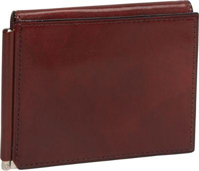 Bosca Old Leather Money Clip w/Outside Pocket Dark Brown - Bosca Men's Wallets