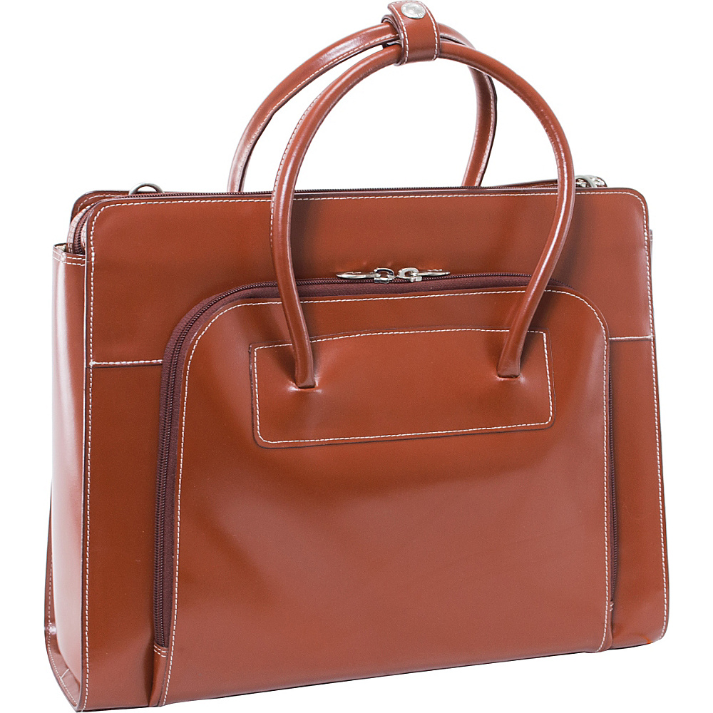 McKlein USA W Series Lake Forest Leather Women s 15 Laptop Case Brown McKlein USA Non Wheeled Business Cases