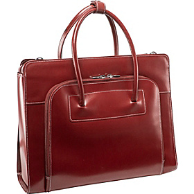 W Series Lake Forest Leather Women's 15.4'' Laptop Case Red