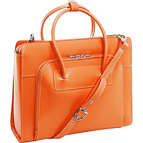 W Series Lake Forest Leather Women's 15.4'' Laptop Case Orange