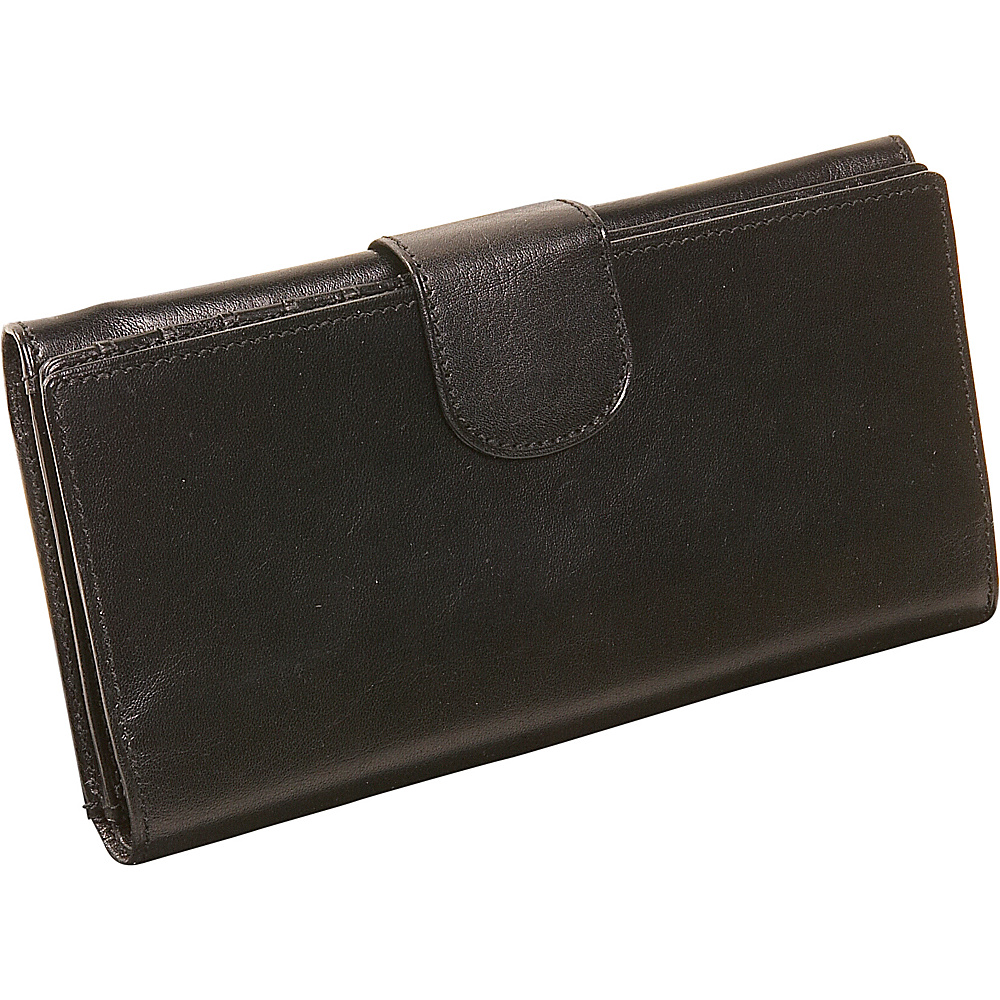 Derek Alexander Ladies Three Part Clutch Wallet Black - Derek Alexander Womens Wallets - Women's SLG, Women's Wallets