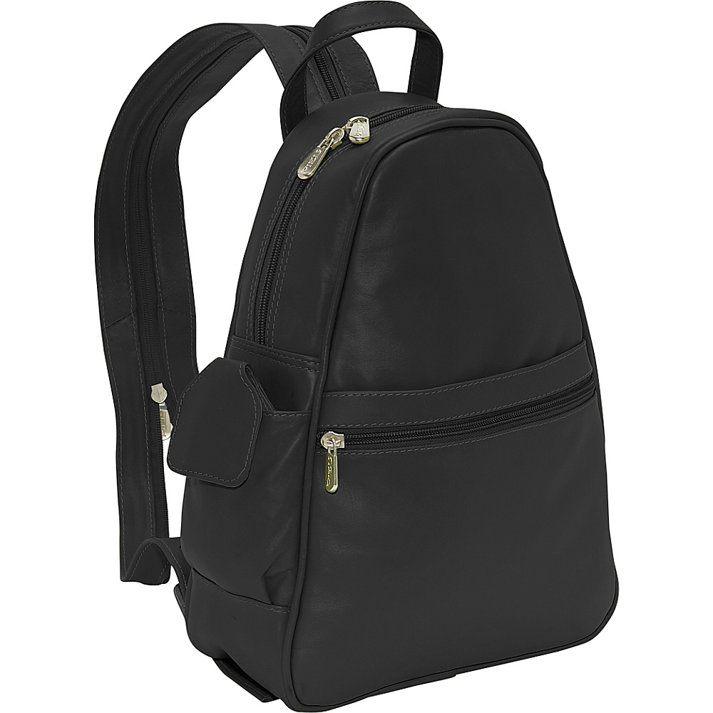 Piel Tri-Shaped Sling Bag - Black