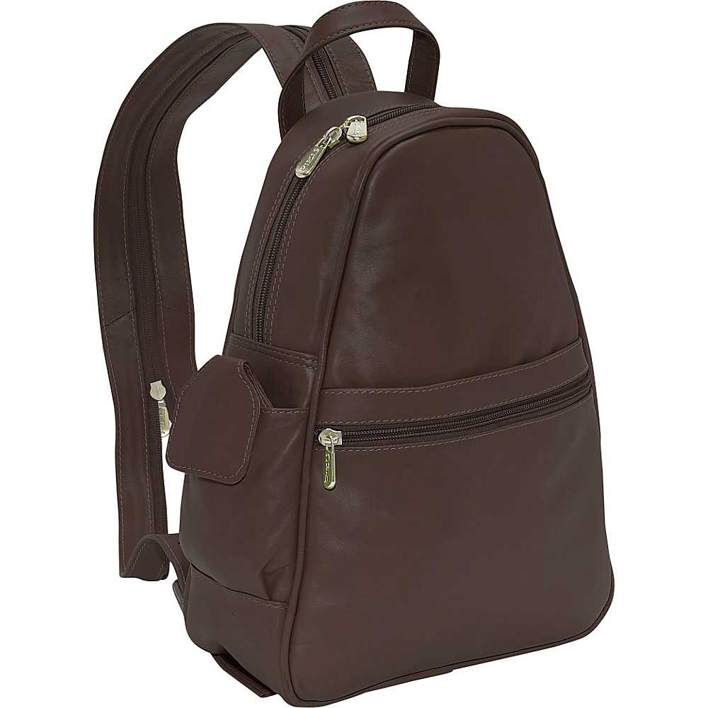 Piel Tri-Shaped Sling Bag - Chocolate - Backpacks, Slings