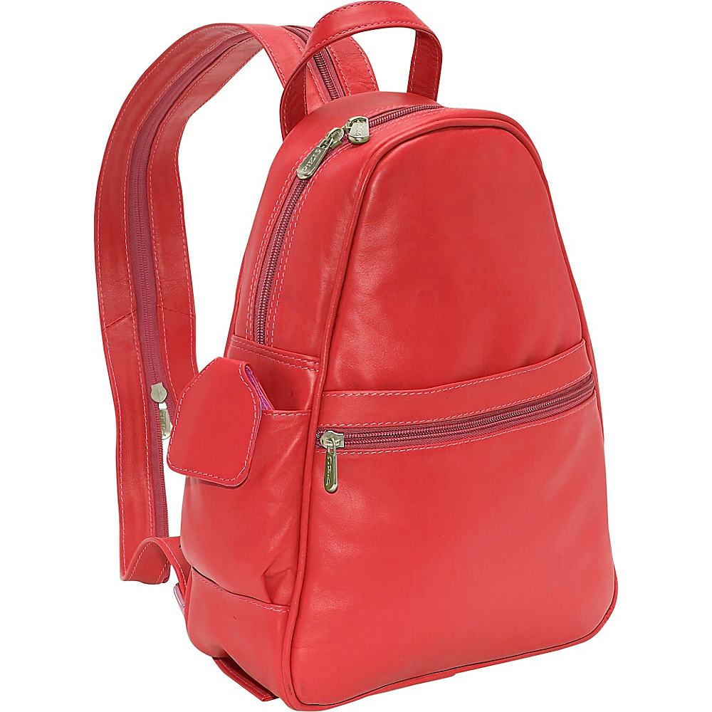 Piel Tri-Shaped Sling Bag - Red - Backpacks, Slings