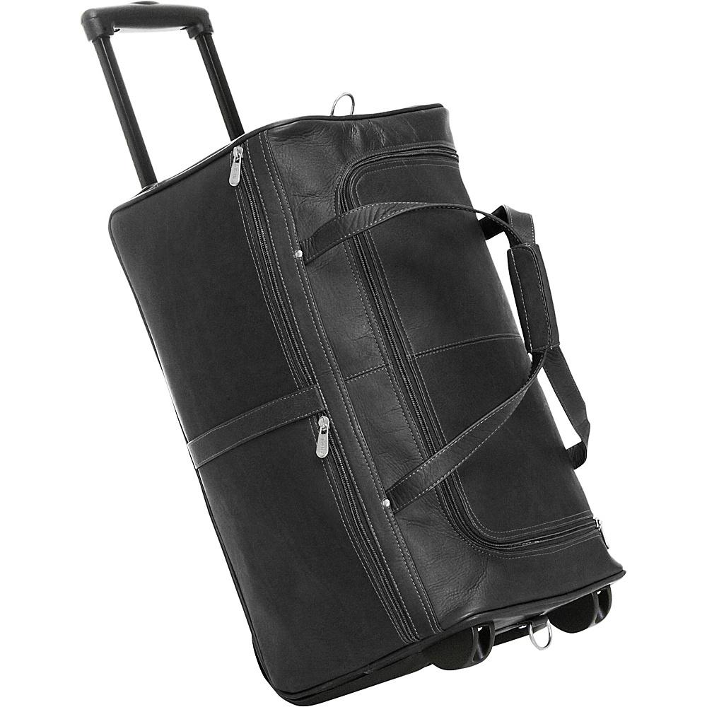 Piel Duffel on Wheels - Black - Luggage, Softside Carry-On