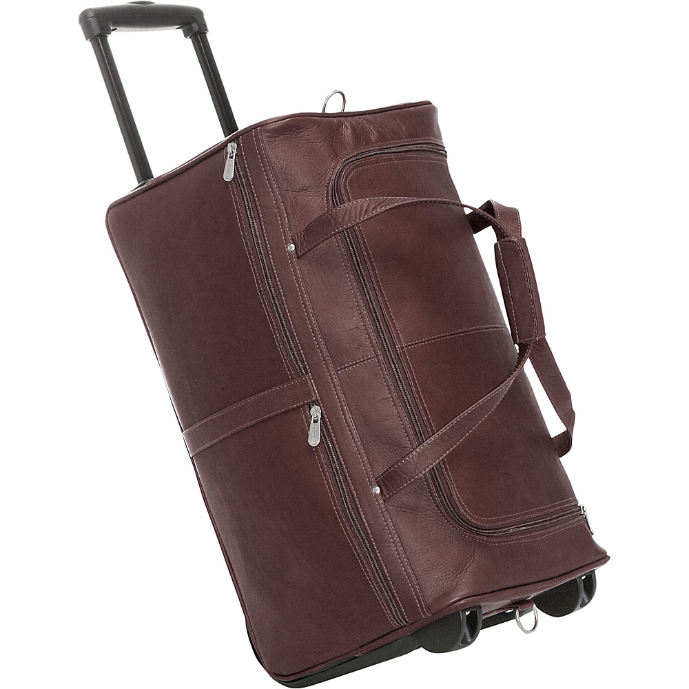 Piel Duffel on Wheels - Chocolate - Luggage, Softside Carry-On