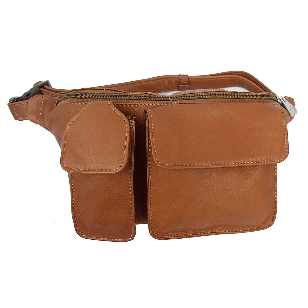 Piel Waist Bag with Phone Pocket - Saddle - Backpacks, Waist Packs