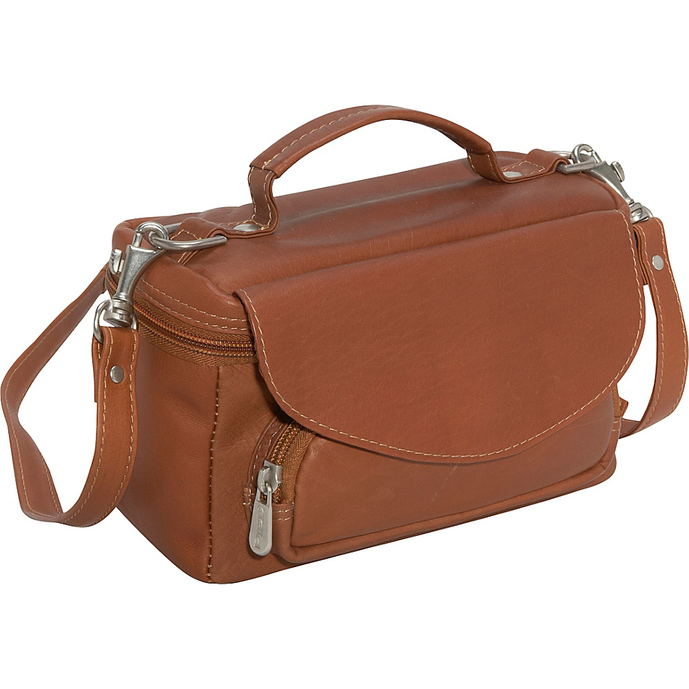 Piel Deluxe Carry-All Camera Bag - Saddle