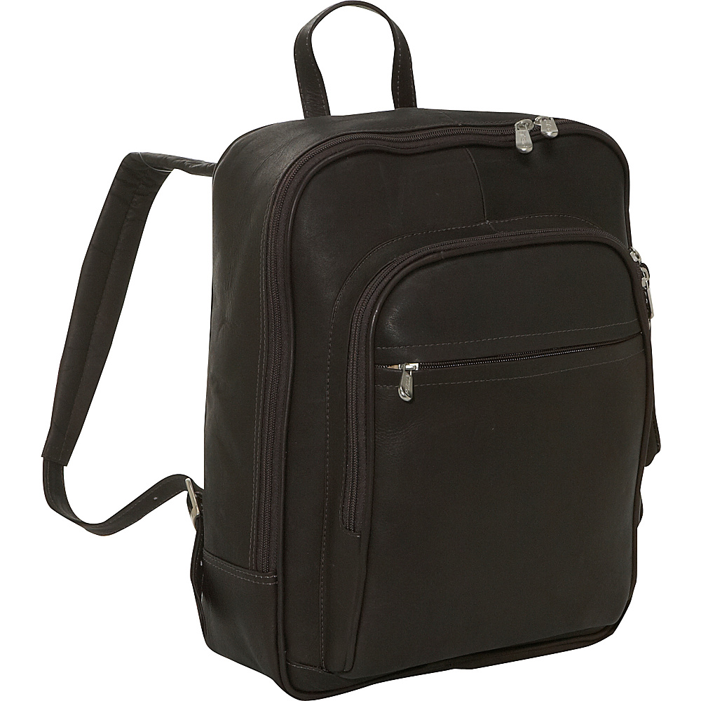 Piel Front Pocket Computer Backpack - Chocolate - Backpacks, Business & Laptop Backpacks