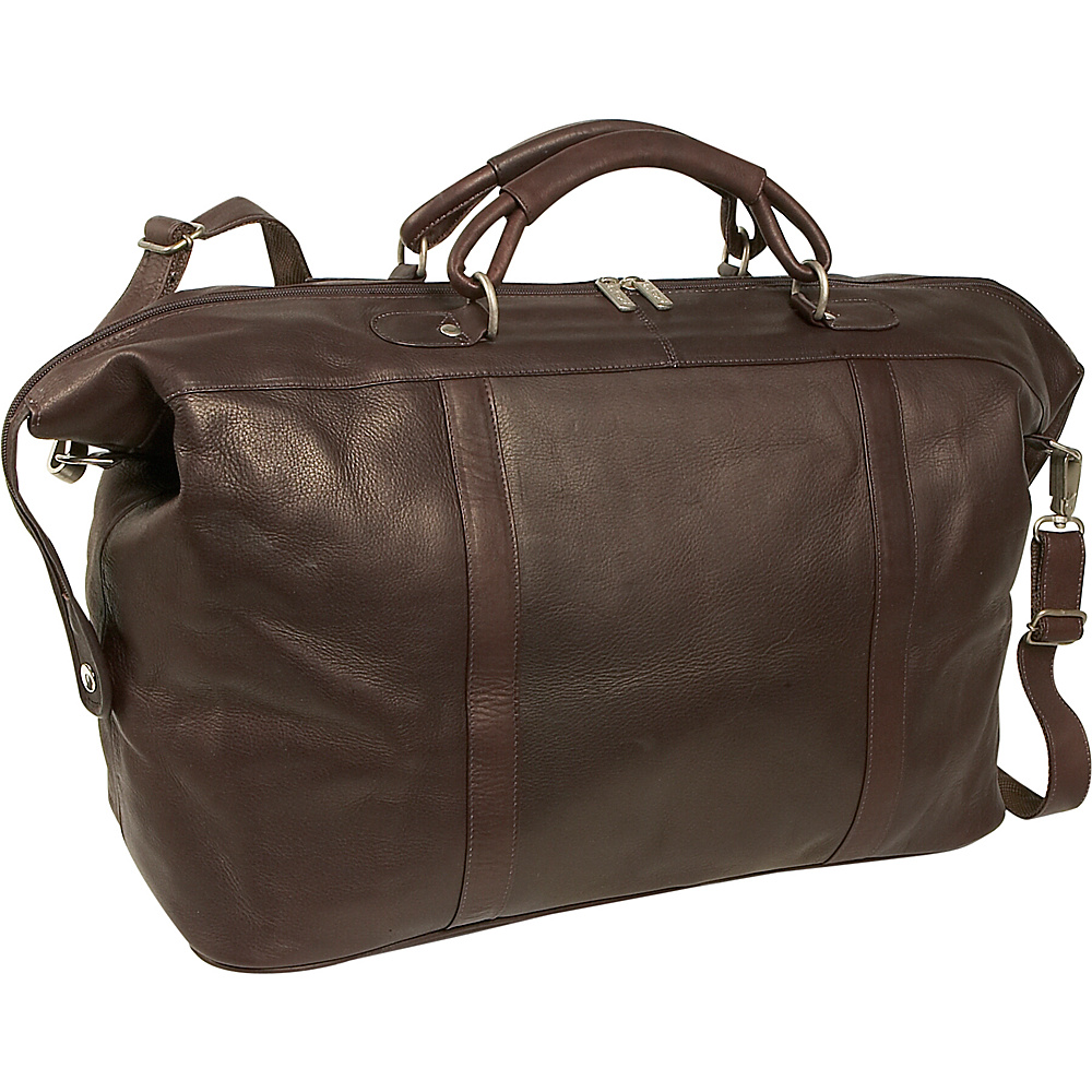 Piel Large Carry-On Satchel - Chocolate - Luggage, Luggage Totes and Satchels
