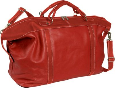 Piel Large Carry-On Satchel - Red