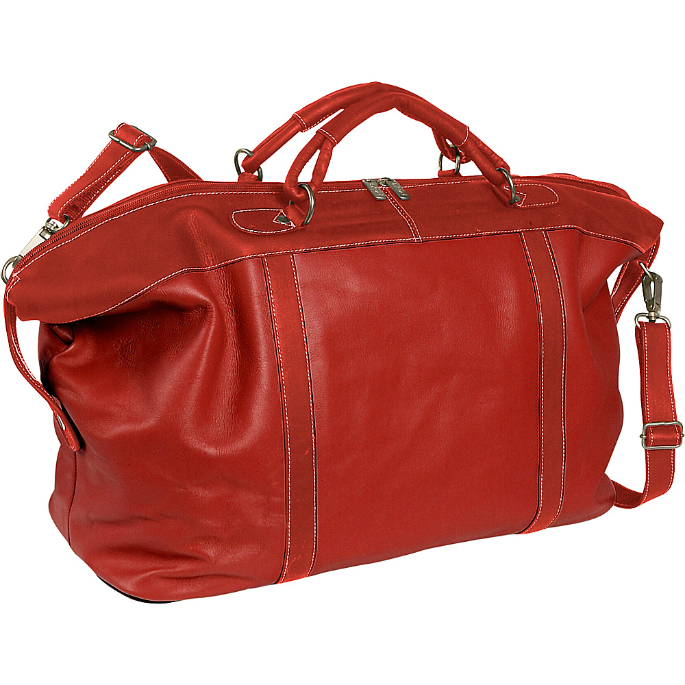 Piel Large Carry-On Satchel - Red - Luggage, Luggage Totes and Satchels