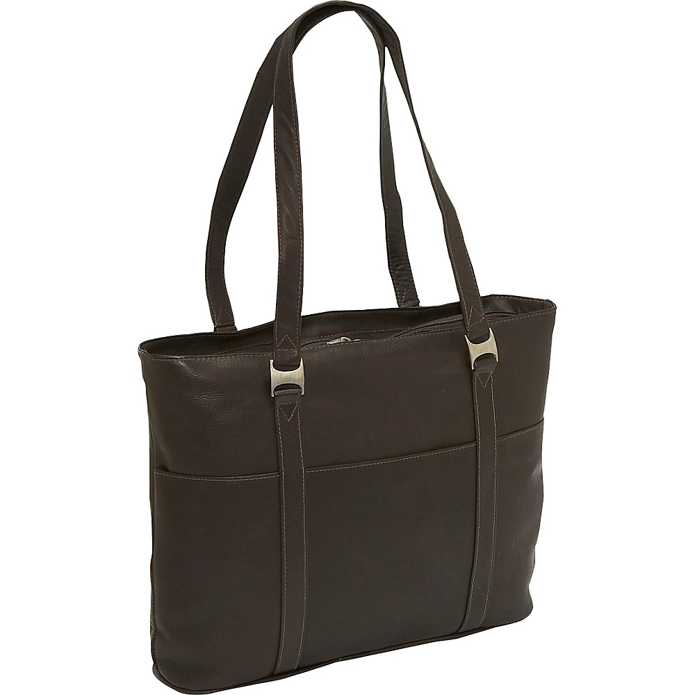 Piel Laptop Business Tote - Chocolate - Work Bags & Briefcases, Women's Business Bags