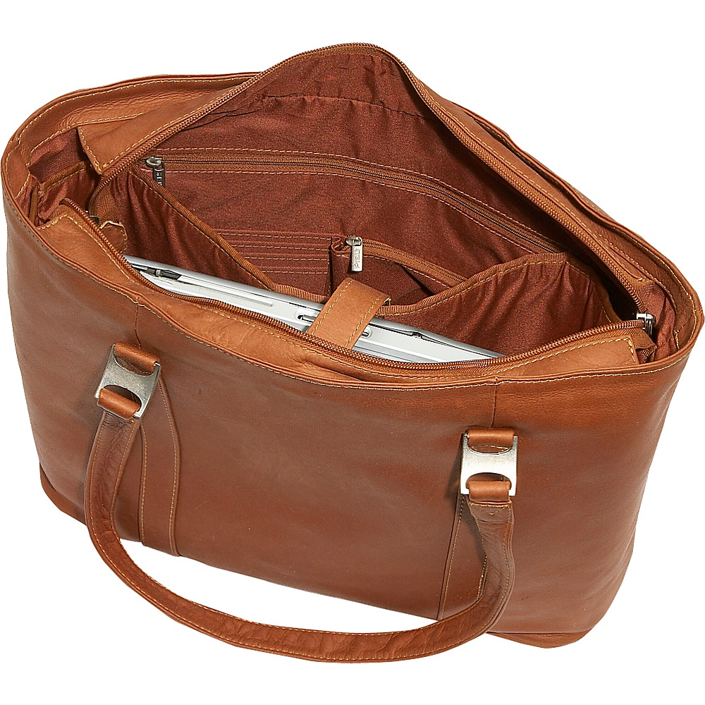 Piel Laptop Business Tote - Red