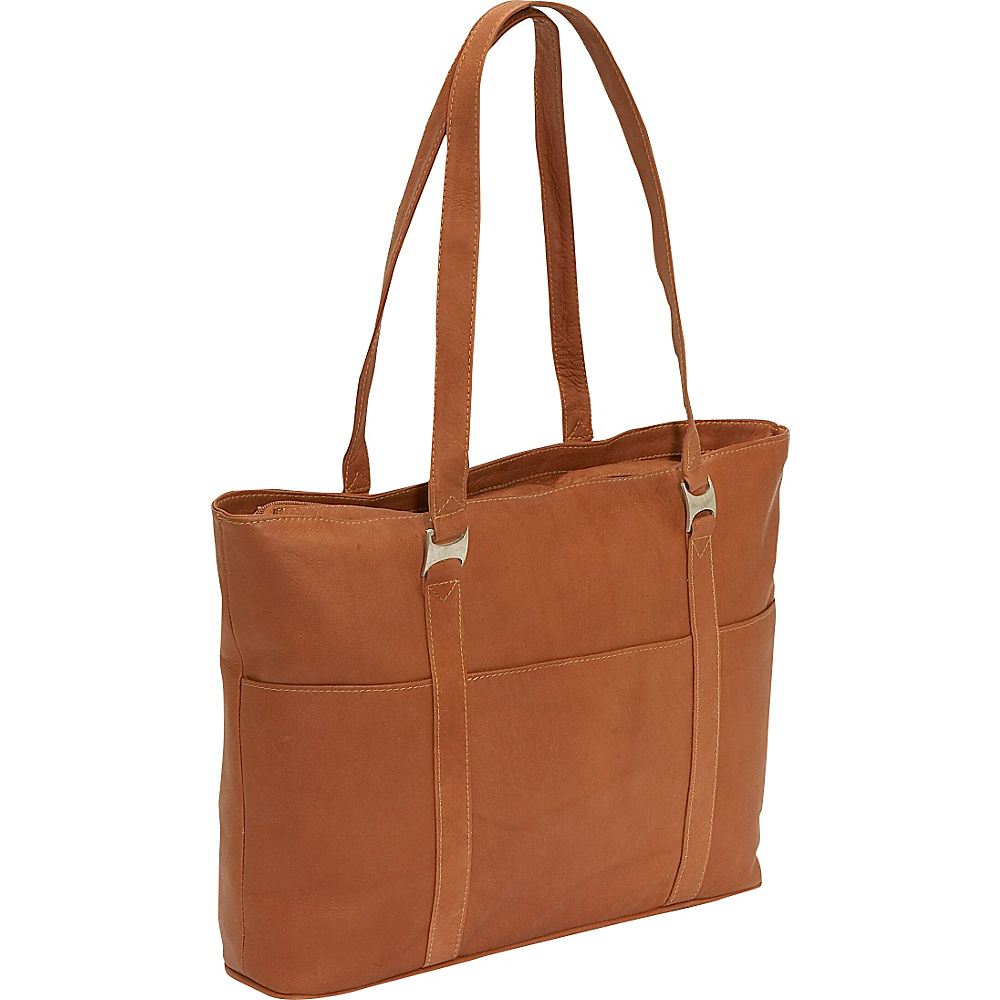 Piel Laptop Business Tote - Saddle - Work Bags & Briefcases, Women's Business Bags