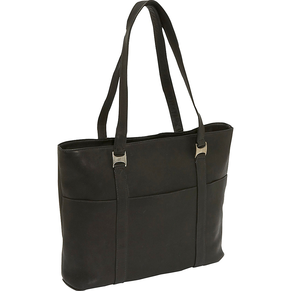 Piel Laptop Business Tote - Black - Work Bags & Briefcases, Women's Business Bags