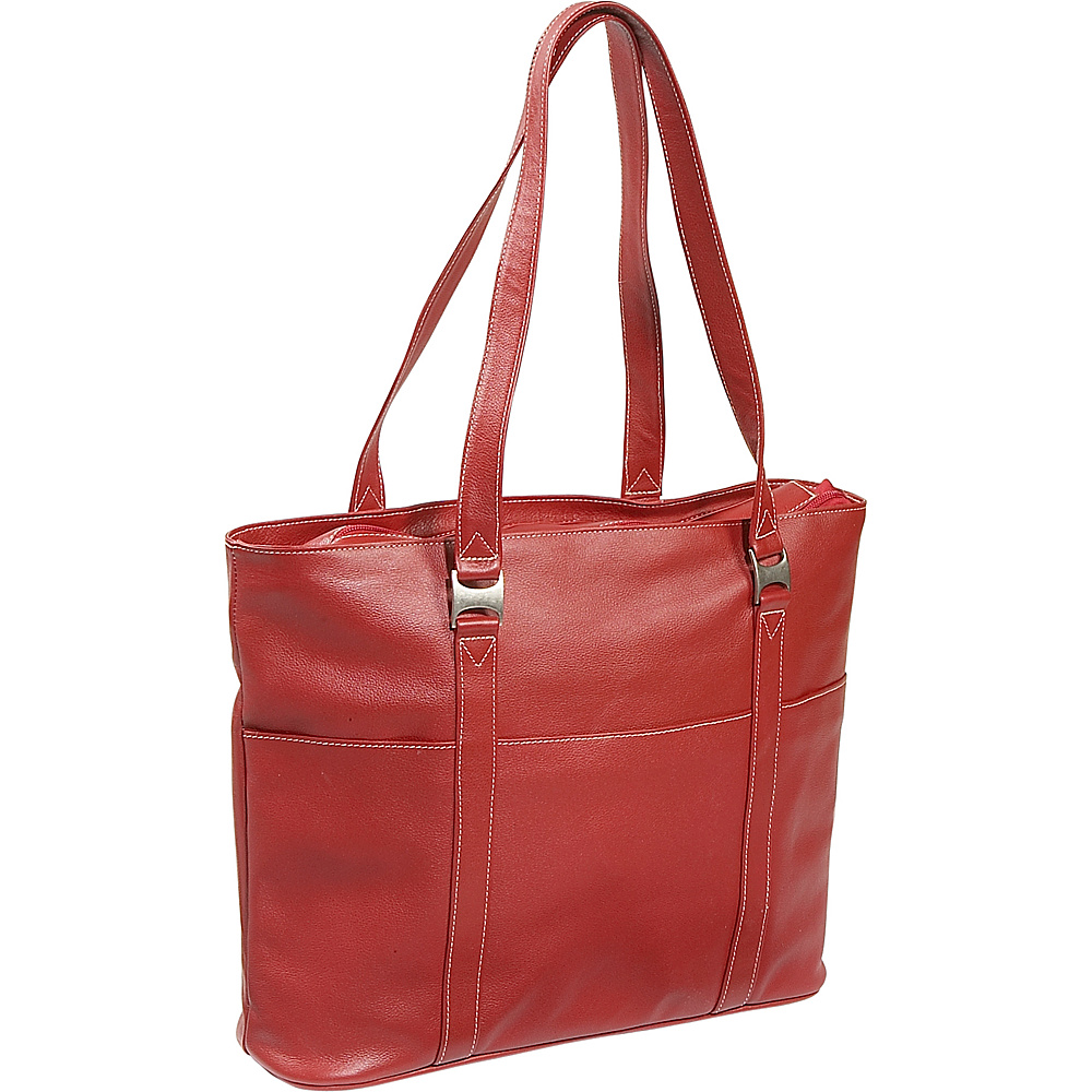 Piel Laptop Business Tote - Red - Work Bags & Briefcases, Women's Business Bags