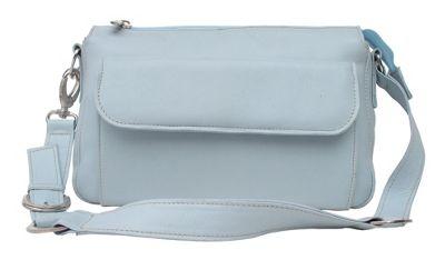 Piel Front Pocket Purse - Pastel Blue