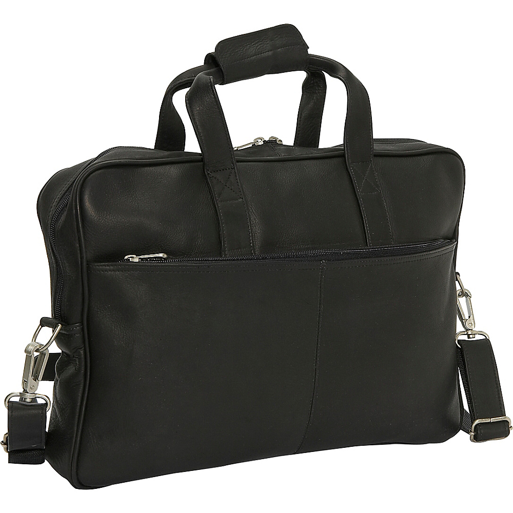 Piel Top Zip Portfolio - Black - Work Bags & Briefcases, Non-Wheeled Business Cases