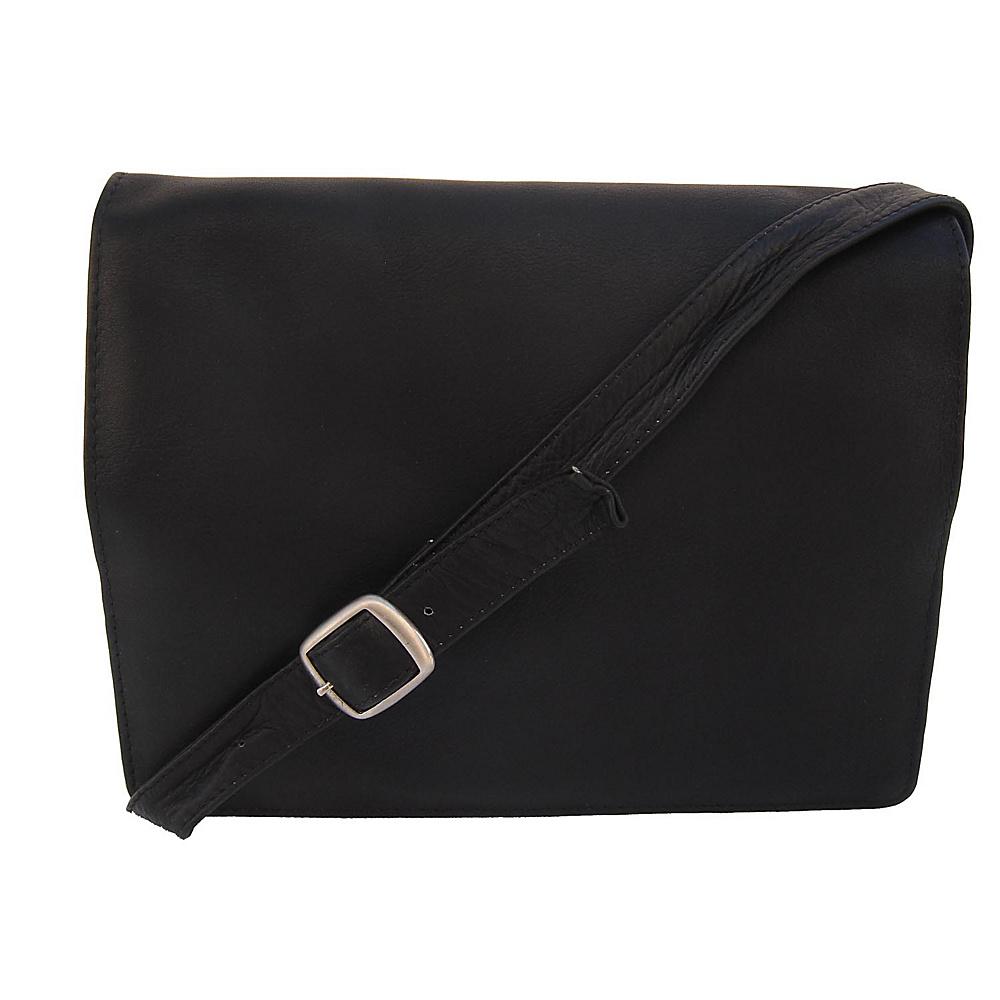 Piel Small Handbag with Organizer Black - Piel Leather Handbags - Handbags, Leather Handbags