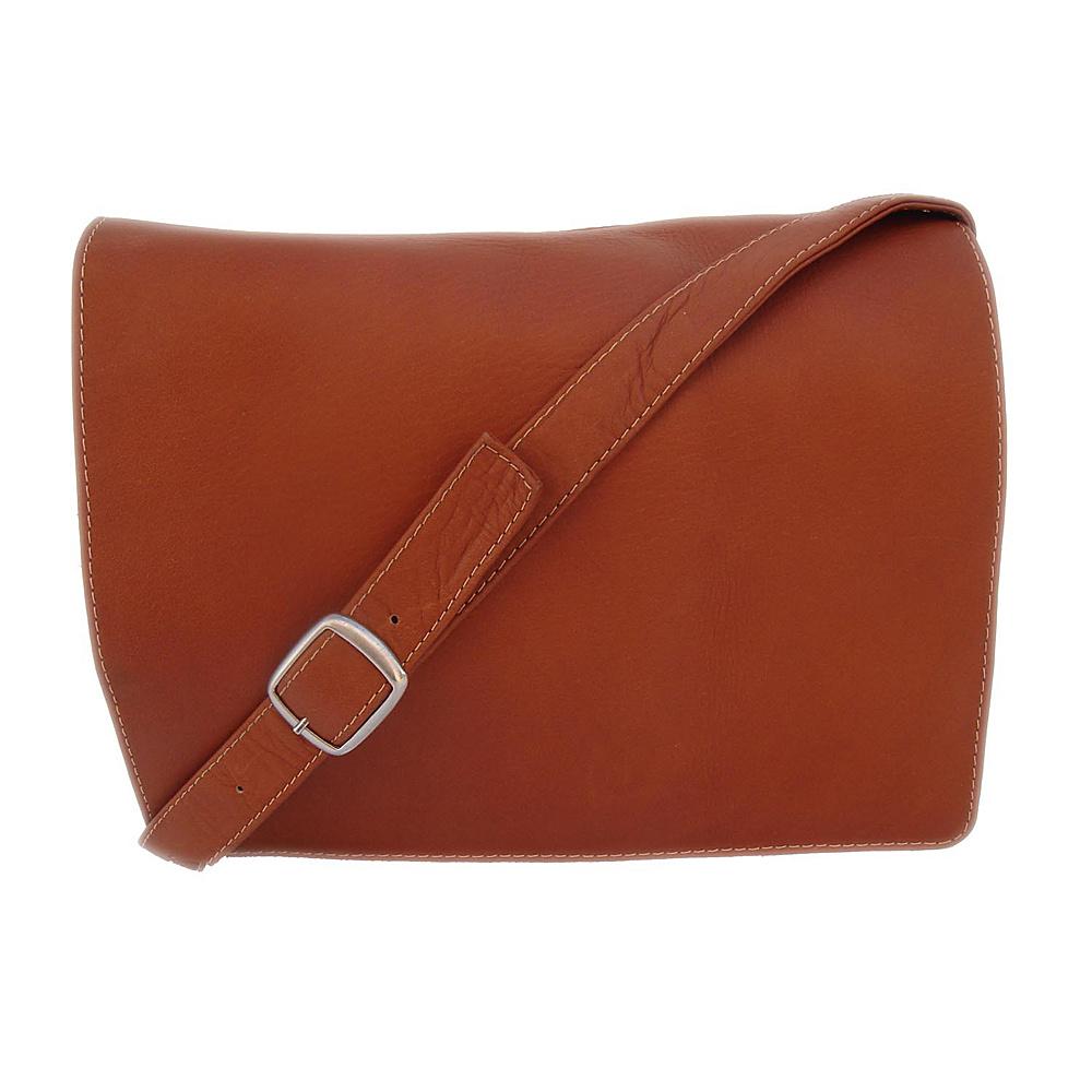 Piel Small Handbag with Organizer - Saddle - Handbags, Leather Handbags