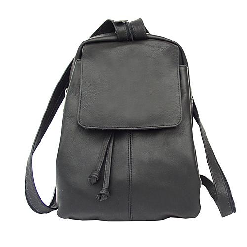 Piel Small Drawstring Backpack - Black