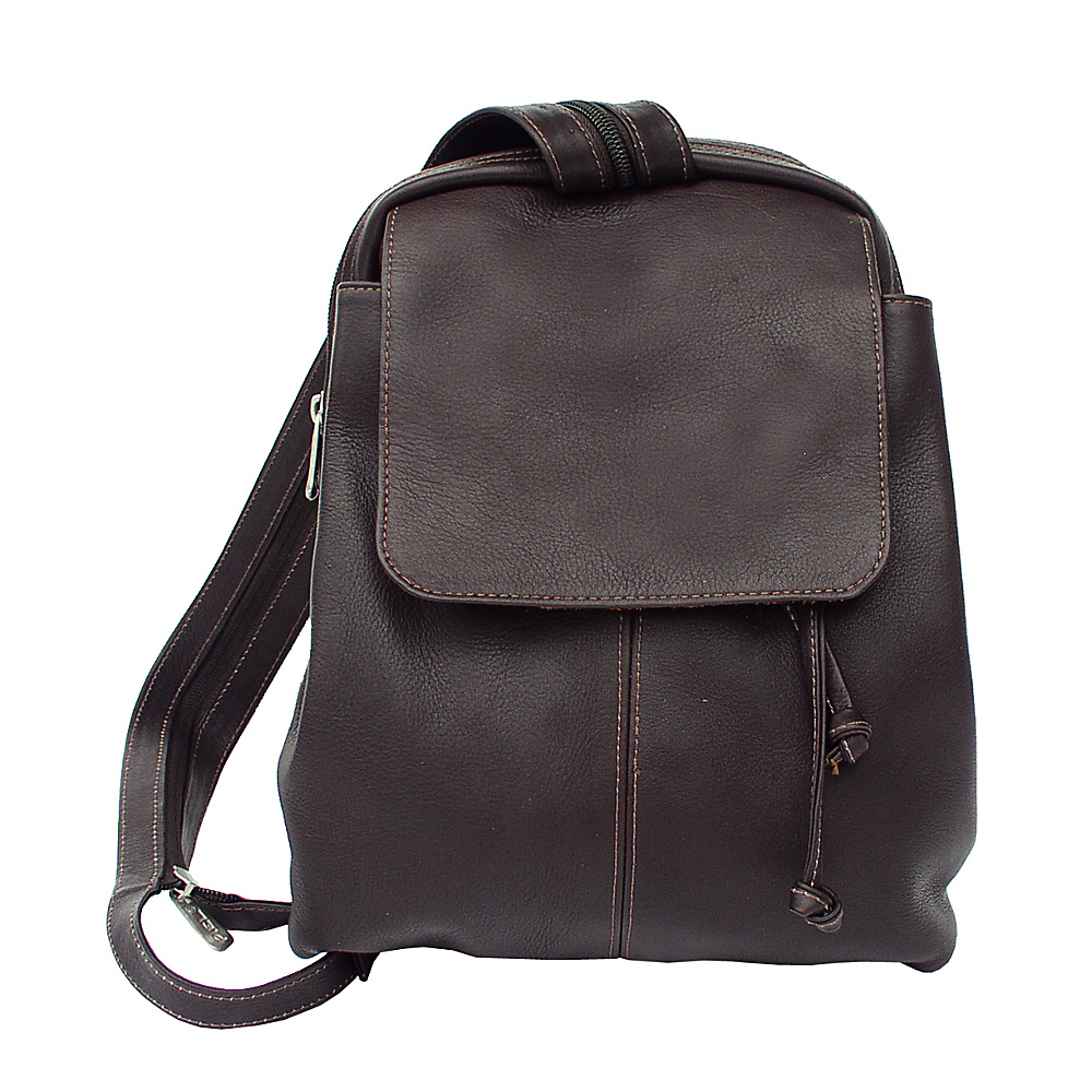 Piel Small Drawstring Backpack - Chocolate