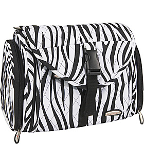 Hanging Toiletry Kit - Quilted Zebra