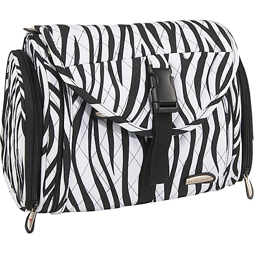 Travelon Hanging Toiletry Kit - Quilted - Zebra
